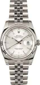 Datejust Rolex 116234 White Gold Bezel
