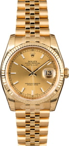 Unworn Rolex Datejust 116238 Yellow Gold Jubilee