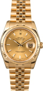 Men's Rolex Datejust 116238 Yellow Gold Jubilee