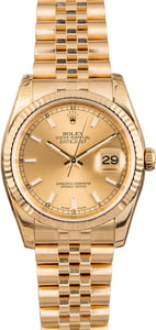 Rolex Datejust 116238 Yellow Gold Jubilee w/ Stickers