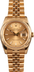 Pre-Owned Rolex Datejust 116238 18k Yellow Gold