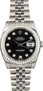 PreOwned Rolex Datejust 116244 Diamond Dial & Bezel