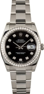Rolex Datejust 116244 Black Diamond Dial