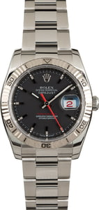 Used Rolex Datejust Turn-O-Graph 116264 Black Dial