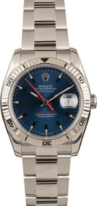 Pre Owned Rolex Thunderbird Datejust 116264 Blue Dial