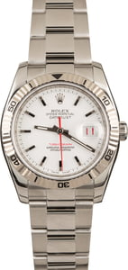 Rolex Datejust Turn-O-Graph 116264 White Dial Thunderbird