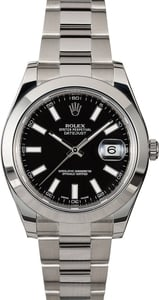 PreOwned Rolex Datejust 116300 Black Dial
