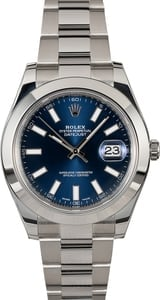 Rolex Datejust 116300 Blue Luminescent Dial Steel Oyster