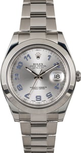 Men's Rolex Datejust II Ref 116300 Rhodium Arabic Dial