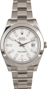 Pre-Owned Rolex Datejust II Ref 116300 White Dial
