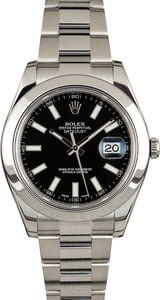 Rolex Datejust 116300 Black Luminous Dial