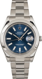 PreOwned Rolex Datejust 116300 Blue Dial