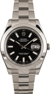 PreOwned Rolex Datejust 116300 Black Dial 41MM