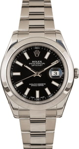 Used Rolex Datejust 116300 Black Dial 41MM