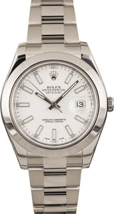 Used Rolex Datejust II Ref 116300 White Dial