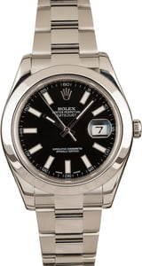 Datejust Rolex 116300 Black 41MM