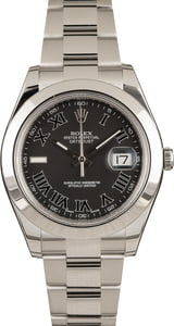 Matte Black Rolex Datejust 116300