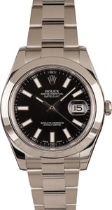 Pre-Owned Rolex Datejust 116300 Luminous Index Markers