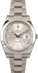 Used Rolex Datejust 116300 Silver Dial