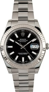 Rolex Datejust 116300 Black Index 100% Genuine
