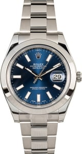 TT Rolex Datejust 116300 Blue Luminous Dial