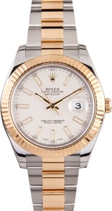 Rolex Datejust II Ivory Dial 116333 Certified Pre Owned
