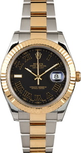 Certified PreOwned Rolex Datejust 116333 Slate Roman Dial
