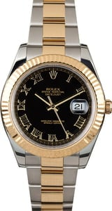 Men's Rolex Datejust 116333 Black Dial with Two Tone Oyster