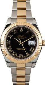PreOwned Rolex Datejust 116333 Black Roman Dial