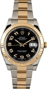 Used Rolex Datejust 116333 Black Arabic Dial