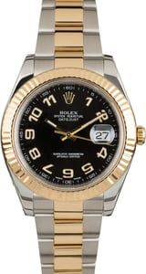 PreOwned Rolex Datejust 116333 Black Arabic Dial