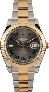 Pre Owned Rolex Datejust II Ref 116333 Green Roman 41MM