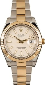 Used Rolex Datejust II Two Tone Ivory Dial 116333