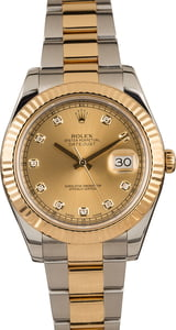Pre-Owned Rolex Datejust 116333 Champagne Diamond Dial