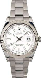 Rolex Datejust II 116334 White Luminous Dial