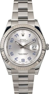 PreOwned Rolex Datejust 116334 Silver Arabic Dial