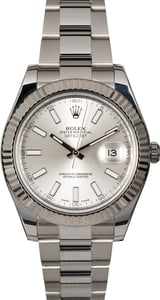 Certified Rolex Datejust 116334 Silver Dial