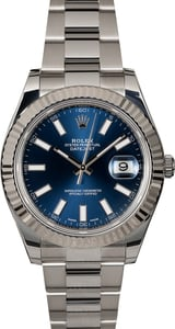 Rolex Datejust II 116334 Blue Luminescent Dial