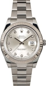 Rolex Datejust 116334 Diamonds Steel Oyster