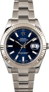 Men's Rolex Datejust II Ref 116334 Blue Dial