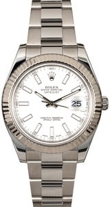 Rolex Datejust II Ref 116334 White Luminescent Dial