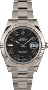 PreOwned Rolex Datejust II Ref 116334 Matte Black Dial