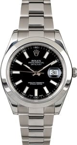 Rolex Datejust II Ref 116334 Black Dial 41MM