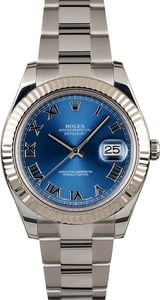 PreOwned Rolex Datejust 116334 Blue Roman