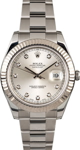 PreOwned Rolex Datejust 116334 Silver Diamond Dial
