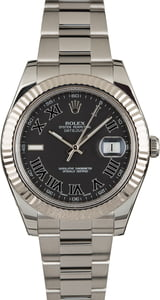 Used Rolex Datejust II Ref 116334 Black Roman