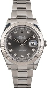 Rolex Datejust 116334 Diamond Slate Dial