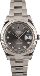 PreOwned Rolex Datejust 41MM Ref 116334 Slate Diamond Dial