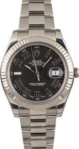 Pre-Owned Rolex Datejust II Black Roman Dial 41MM