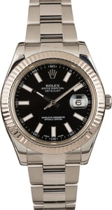 Used Rolex Datejust II Ref 116334 Black Dial